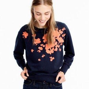 J.Crew Embroidered Floral Sweatshirt